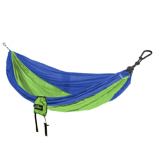 Double Travel Hammock - Royal/Neon Green